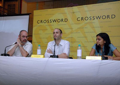 Pierre Poulain's book 'Wisdom through the Lens,' published by NA India, is presented in a store in Mumbai from the 'Crossword' Indian bookstore chain.