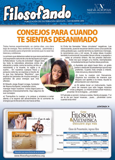 Filosofando (Philosophizing). Free monthly journal published by NA Peru.