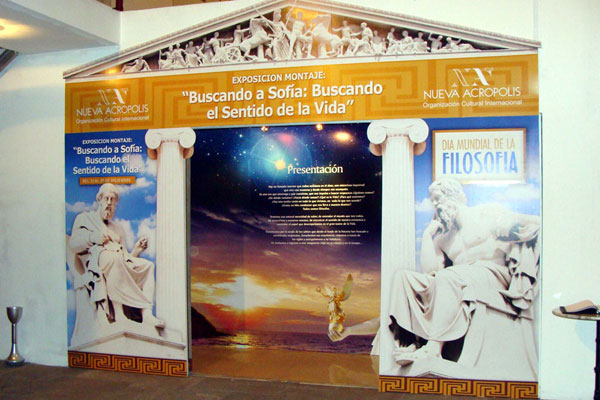 Searching for Sophia. Searching for the Meaning of Life. Exhibit at New Acropolis Lima for World Philosophy Day.