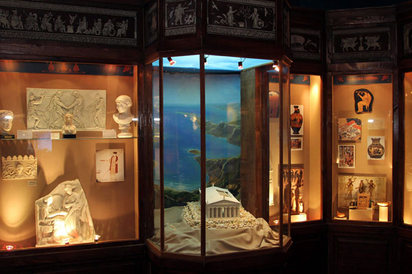 "Moscow. Exhibition on Ancient Greece as part of the cycle ""We are looking for Man!"", with exhibits and descriptive panels about the meaning of life, fate and happiness among the Greeks."