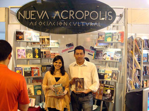 X International Book Fair in Santa Cruz (Bolivia). New Acropolis Editorial is present with a book stand..