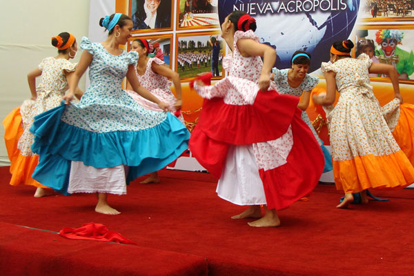 Festejo. Peruvian dance performed at NA Lima by members of the folk dance studio.